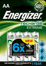 4 x Energizer Recharge EXTREME AA 2300mAh Rechargeable Batteries