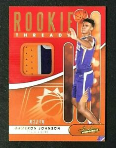 CAMERON JOHNSON 2019-20 PANINI ABSOLUTE ROOKIE 3 COLOR JERSEY PATCH #03/10 SUNS