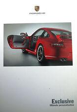 Porsche, Exclusive Sales Brochure