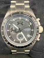 Fossil CH2600 Men's Watch Stainless Steel Date Display Analog Quartz 40mm O738