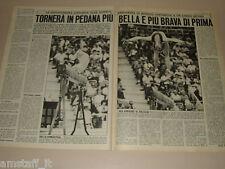 OLGA KORBUT ginnasta clipping articolo foto photo 1972