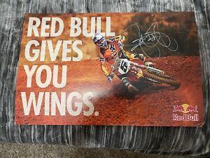 RYAN DUNGEY #5  *Signed KTM Racing POSTER  -SUPERCROSS