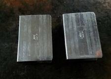 SET of 2 STERLING SILVER MATCHBOX MATCH BOX SAFE HOLDER CASE