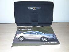 2007 Chrysler Sebring Original Owner's Manual w/ Case