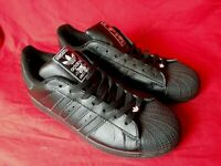 Adidas Men 10.5 Sneakers 35th Anniversary Superstar Black On Black