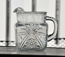 Hocking Early American Prescut EAPC Star of David 40 oz. Glass Square Pitcher