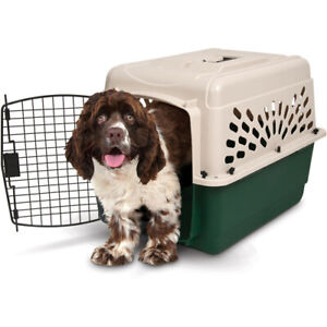 Med Dog Crate Cage 25-35 Lbs Travel Plastic Airline Approved Pet Kennel 28