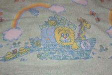 Vintage Reigel Baby Receiving Blanket Uss Ark Rainbow Animal Green Unisex