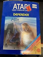 Defender (Atari 2600, 1981) Complete in Box With Manual Comic And Catalog