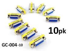 10-PACK DB15 Joystick Female/Female Slim Gender Changer Coupler Adapter GC-004