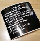 Nintendo NES Wisdom Tree Cartridge Replacement  BLACK  CAUTION Label Sticker