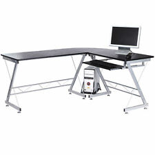 Corner Laptop Desktop Computer Desk L-shaped PC Table Workstation Home Office