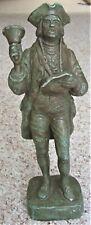 """Vintage 1964 Austin Prod Cast Iron Figurine Sculpture British Soldier (?) 12.5"""""""