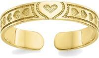 10K Yellow Gold Heart Toe Ring