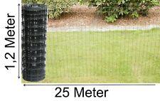Gartenzaun 1,0x25m Maschendraht Gitterzaun Maschung 7,5x5 cm Schweißgitter Zaun
