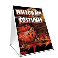 A-frame Sidewalk Sign Halloween Costumes With Graphics On Each Side