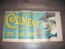 AFFICHE 1890 CHARLES TICHON CYCLES CLEMENT VELO lithographiee