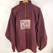 Vintage Pullover Jumper Hiking Outdoor Jacket Shirt Denim Feel Faded Plum L/XL
