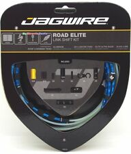 Jagwire Road Elite Link Ultra-Slick  Shift Cable Kit  Blue+Shimano End Cap x2