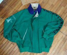 Vintage Purple Green Nautica J Class Color Block Cross Sailing Jacket L 90s