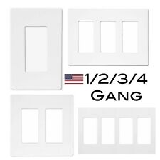 Screwless Wall Switch Plate Outlet Cover 1-4 Gang | White
