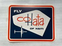 Vintage 1950's Cohata Airlines of Haiti Luggage / Baggage Label