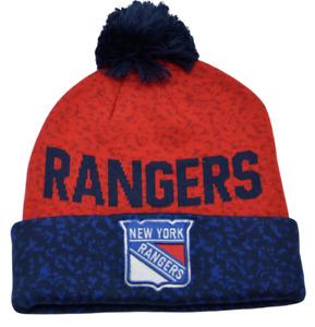 New York Rangers NHL Fan Weave Knit Beanie Pom Pom Winter Hat by Fanatics