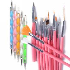 20PCS Womens Nail Art Design Dotting Painting Drawing Polish Brush Pen Tools Set