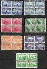 USA Poster Stamps Eaton's Letter Papers: 7 blocks including Train, Ship etc.  NH
