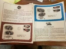 US FDC FIRST DAY COVERS CLASSIC CARS 1988   SET OF 2 WITH INFO