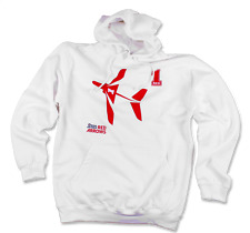 """OFFICIAL RAF RED ARROWS - RED ONE HOODIE - WHITE - ADULT MEDIUM 38""""/40"""""""