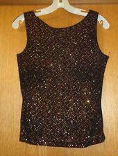 Woman's sz Jr L - Black TOP - A. Byer - Glitter & glitzy & snug - Open back CUTE