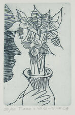 """Charles BLACKMAN """"Face and Vase"""" original etching on paper - signed by artist"""