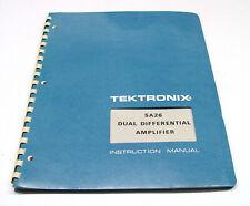 Tektronix 5A26 Instruction Manual f. 5000er, Dual Differential Amplifier Plugin