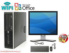 CLEARANCE!!! Fast HP Desktop Computer PC Core 2 Duo WINDOWS 7/10 Pro LCD KB + MS