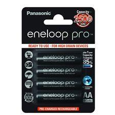 4x Panasonic eneloop Pro AA Akku Batterie Accu Mignon HR6 BK-3HDCE/4BE Blister