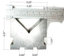 "LKey 4-1/4"" Capacity Precision V-Block 5-1/4"" L x 4-1/2"" H x 2-1/2"" W"