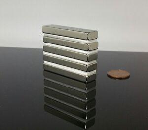 """5 Neodymium Rare Earth N42 Bar Magnet 5,000 Gauss Super Strong 2"""" x 1/2"""" x 1/4"""""""