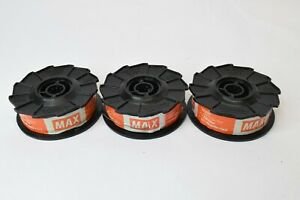 Lot of 3 MAX TW898 21 Gauge Black Steel Rebar Tie Wire 312 FT