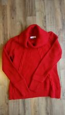 Red Turtleneck/cowl neck CK Calvin Klein sweater Clean used item