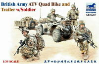 Bronco 1/35 British Army ATV Quad Bike and Trailer w/Soldier 35207