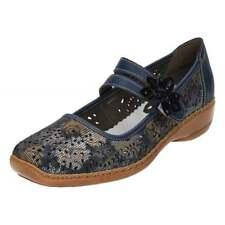 Rieker 41372 Ladies Velcro Strap Shoes Navy 40