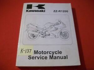 KAWASAKI ZZ-R1200 FACTORY MOTORCYCLE SERVICE MANUAL  #99924-1279-02 2002-2003