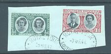 Southern Rhodesia, 1947 Royal Visit, used on piece with Royal Tour postmarks.