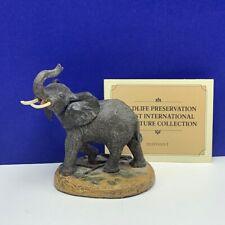 Elephant figurine Franklin mint sculpture wildlife trust preservation coa Africa