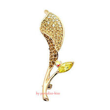 Spilla da Donna Cristallo SwarovskiI Elements Fiore col. Champagne SP71