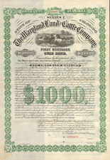 The Maryland Land and Cattle Company > 1886 Colorado $1000 gold bond certificate