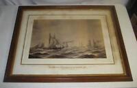 ANTIQUE 1866 SANDY HOOK YACHT RACE BURNHAM PHOTOGRAPH aft JEC PETERSON PAINTING
