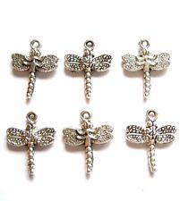 10 pieces Tibetan Silver dragonfly charme Pendentifs A0083