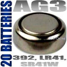 20 Alkaline Batteries AG3 392 LR41 SR41 D392 SR736 247B